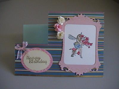 Fairy & Roses Happy Birthday Step Card