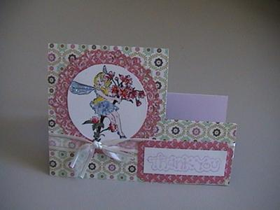 Fairy Thank you Step Card