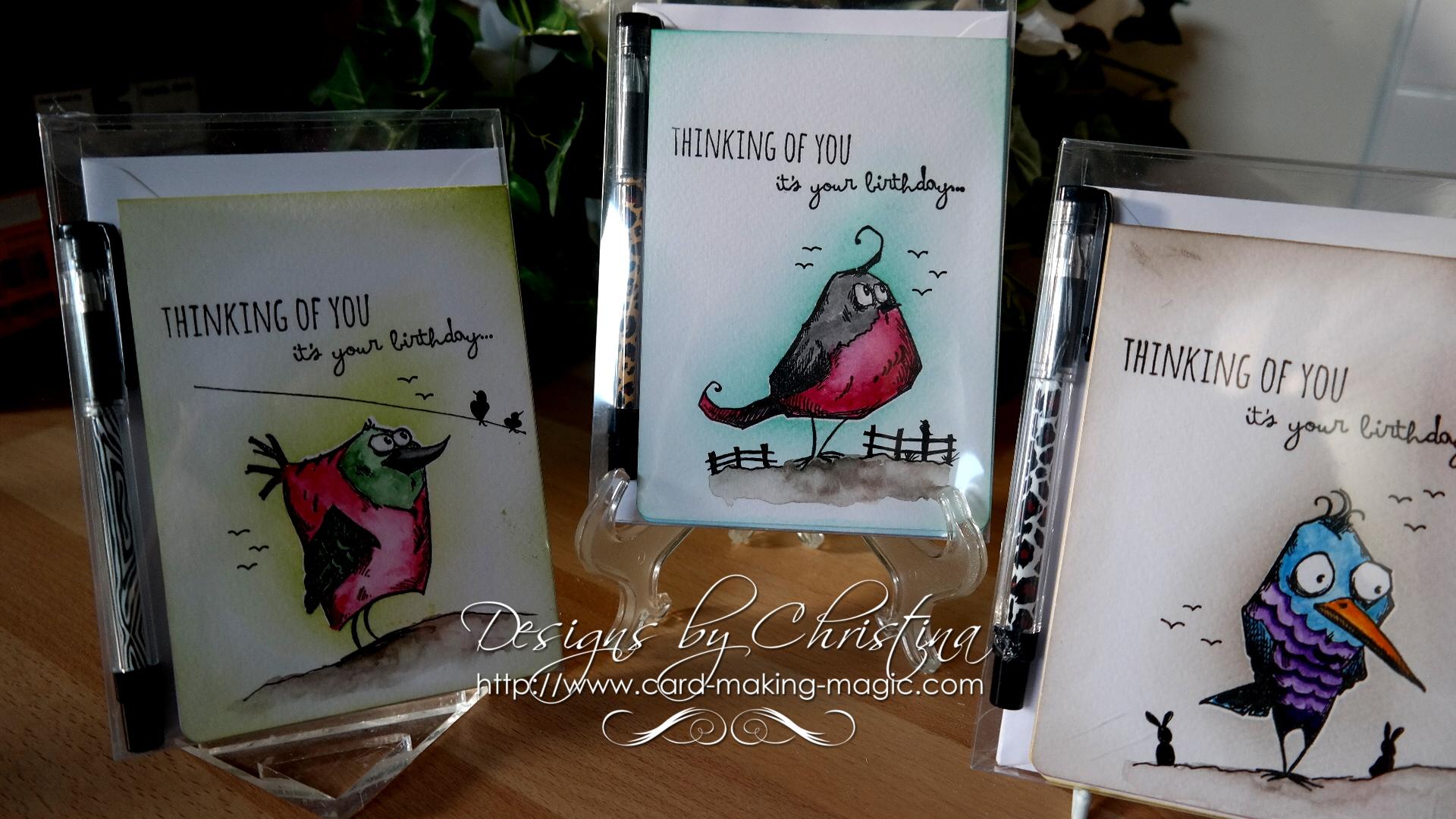 Batch Bird Crazy Cards