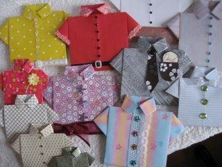 Folded paper Shirts