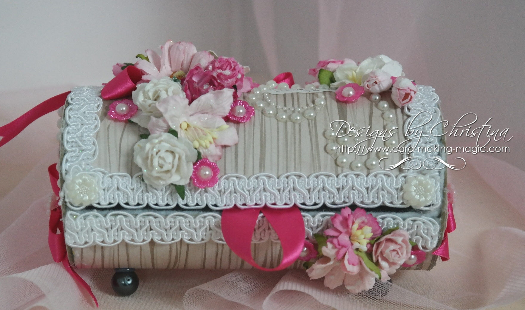 Treasure box with flowers