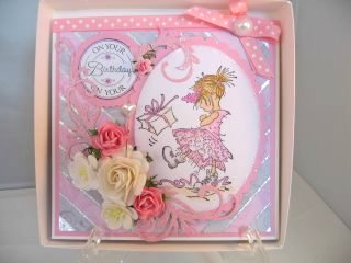 Mosaic Card in pink
