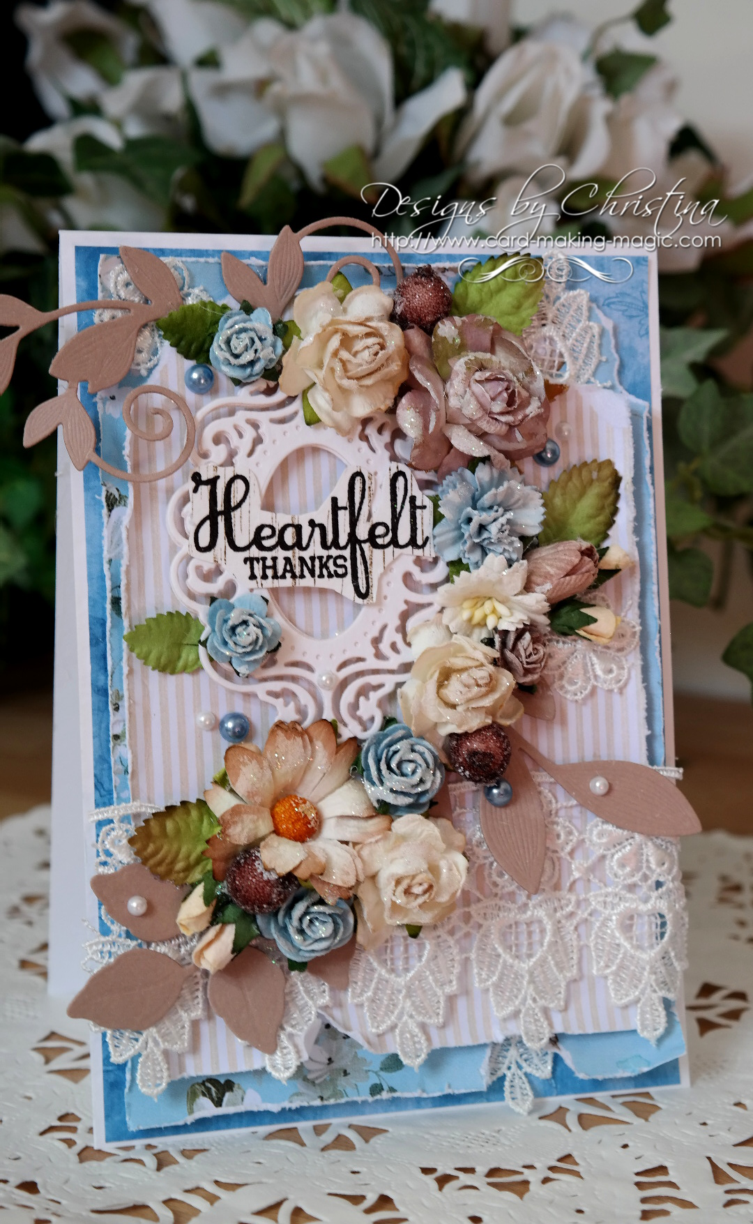 Shabby Chic Blue and Beige