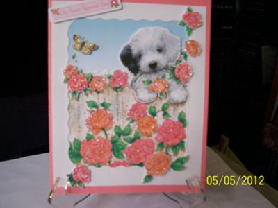A Puppie Birthday Card