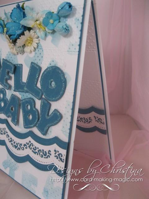 Stencilled Baby Card