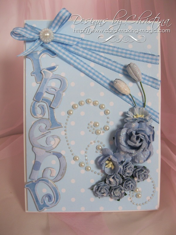 Friend card in blue