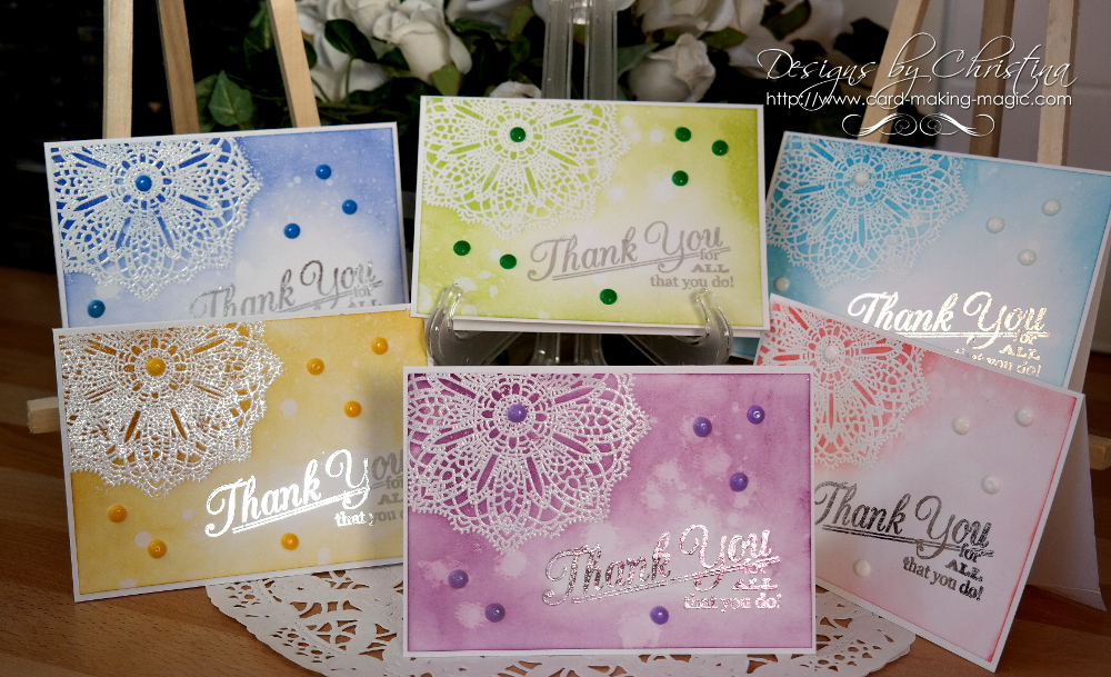 Batch Doily Cards