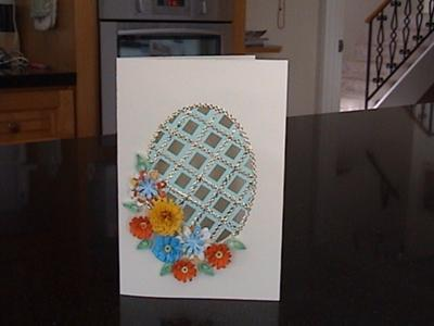 Trellis Card with Quilling Flowers