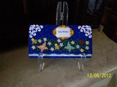 Glittered Birthday Money Card