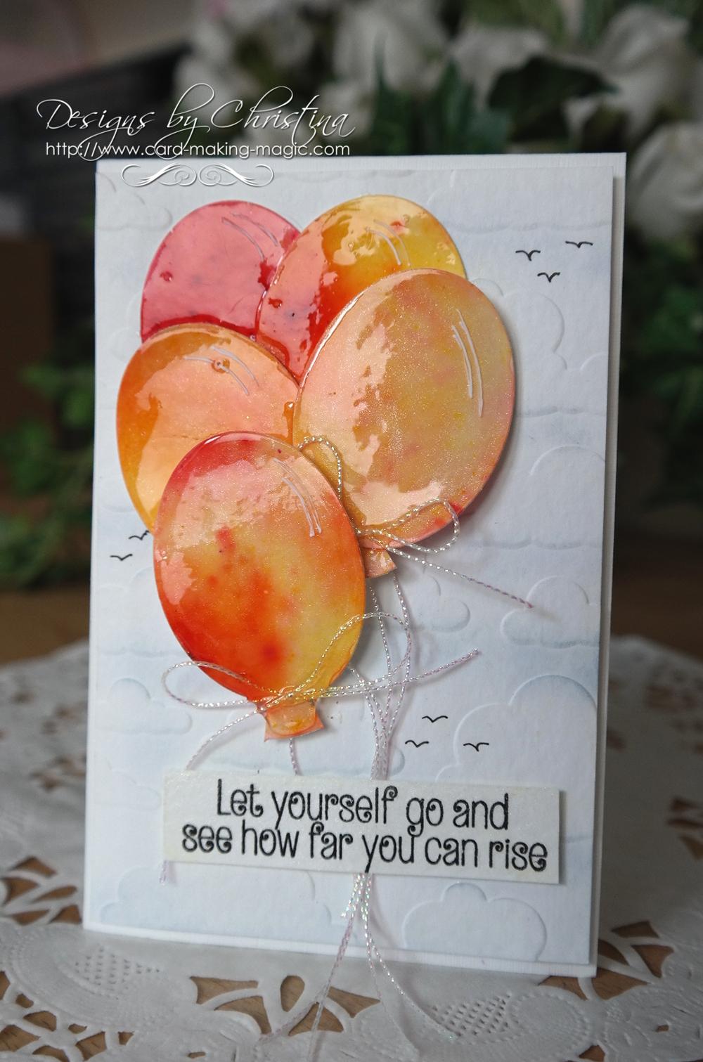 Brusho Orange Balloons