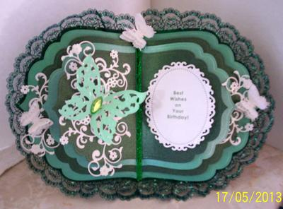Butterflies & Lace Book Birthday Card
