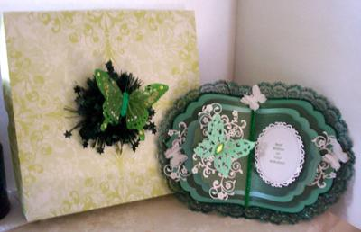 Butterflies & Lace Book Birthday Card & Gift Box