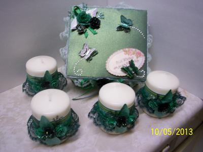 Candle Gift Set To Go With Butterflies & Lace Book Birthday Card