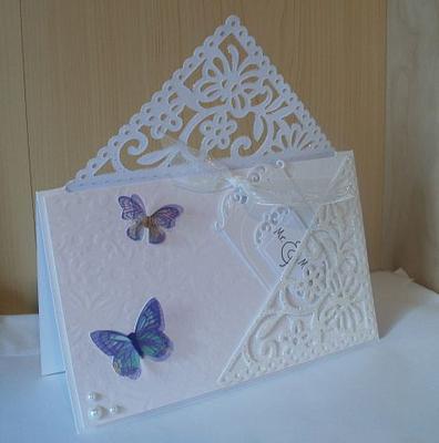 Wedding Butterfly Corner Card Back