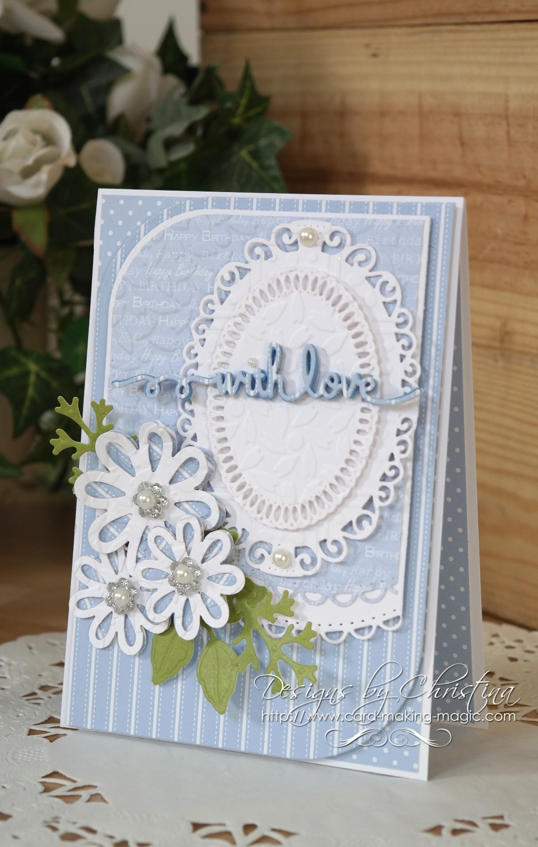 Beautiful Card made with Spellbinders