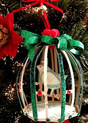 3D Birdcage Tree Ornament