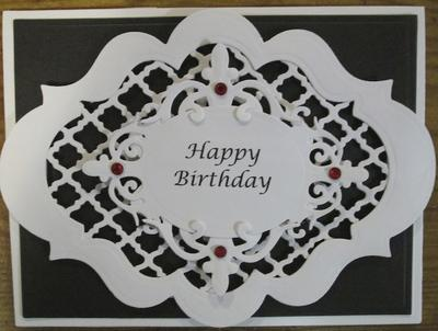 Card Creations by Donna – Black and White Birthday Card