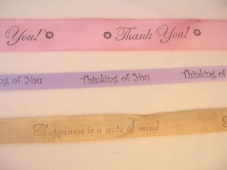 Stamping onto colored ribbon