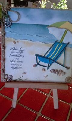 Deck chair on the beach
