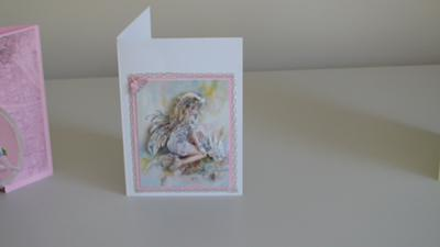 Pink Decoupage Fairy