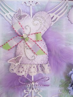 Spellbinders lilac dress form