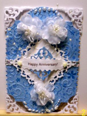 Filigree Hinged Anniversary Card