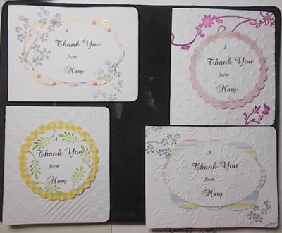 Thank you cards from Mary