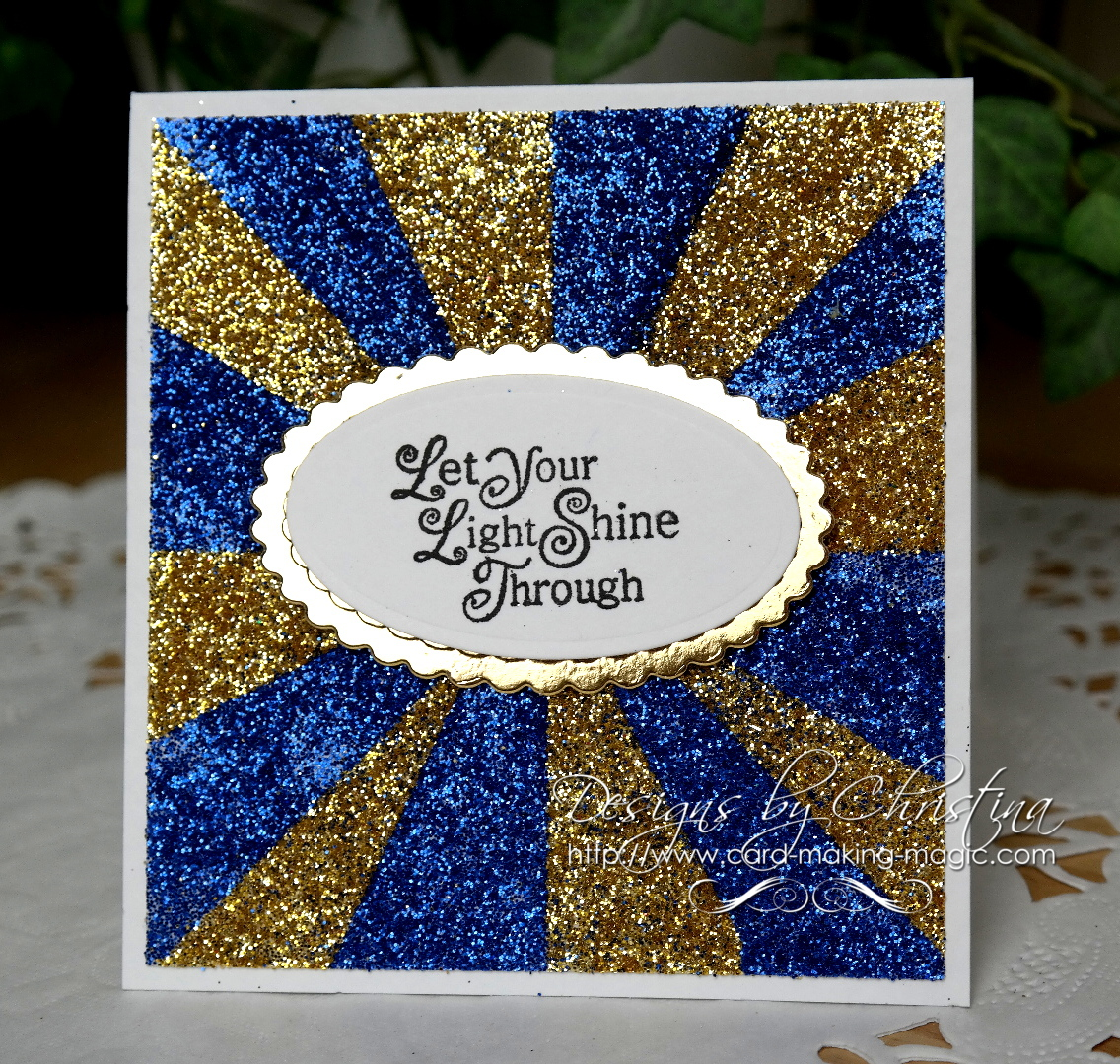 Blue/gold glitter background