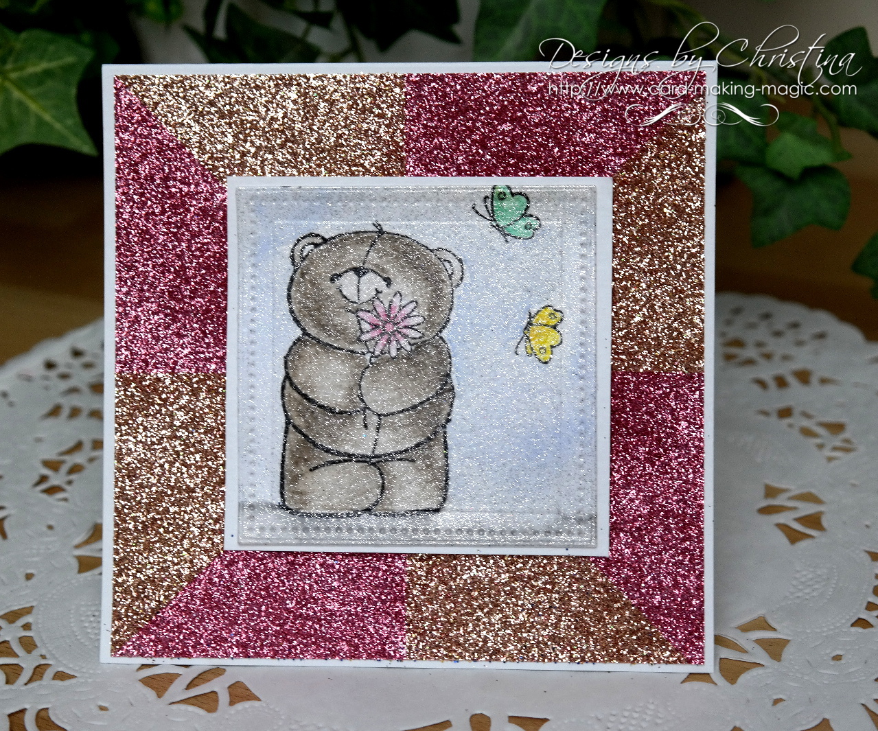 Glitter background in pink and gold
