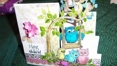 This is a step card from Heartfelt Creations Sugar Hollow