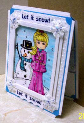 Hinged Snowflake Christmas Card