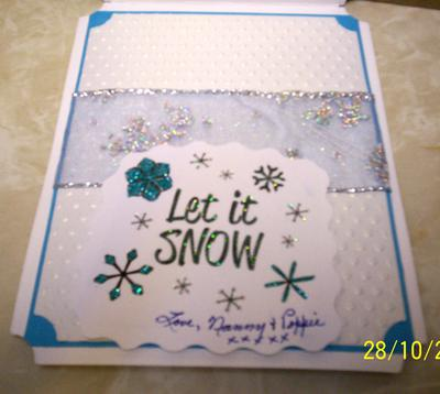 Inside of Snowflake Card