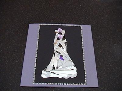 Iris Folded Evening Gown