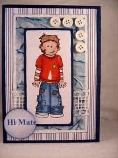 Raffia Lace for male cards