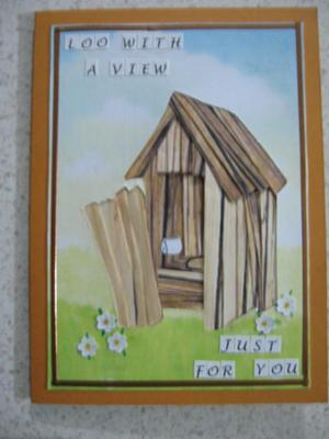 Husband's 70th B/Day card Iris folding