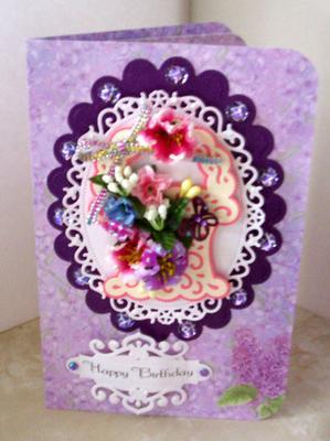 Lilac Birthday Card