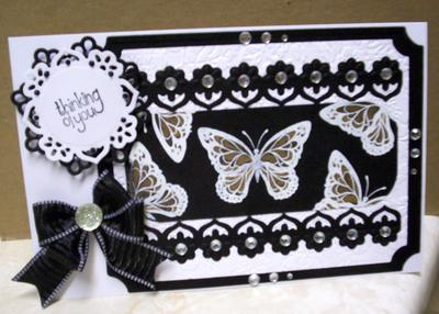 Low Lighted Butterfly Card