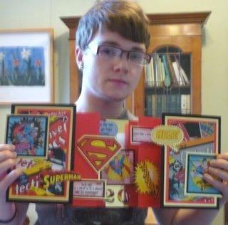 Lovely grandson with lovely cards