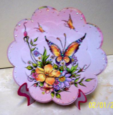 Paper Creator Cards - Butterfly Plate