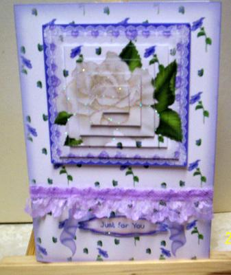 Paper Creator Cards - White Rose