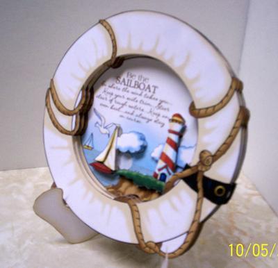 Paper Creator Cards - Frame Sailboat