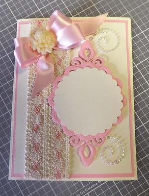 Pink Lace Ribbon Card