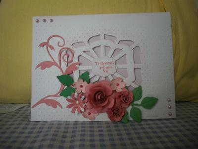 pink lattice card