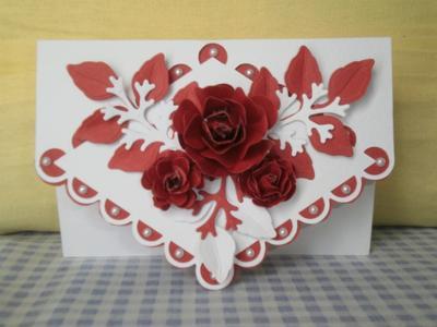 Red fancy card