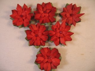 HOW TO MAKE 3D ORIGAMI POINSETTIA | DIY POINSETTIA CHRISTMAS ... | 240x320