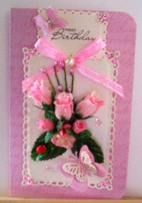 Pretty in Pink Birthday Card
