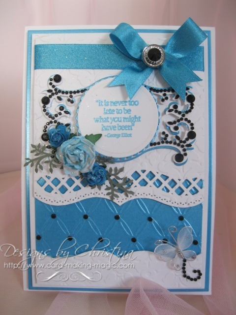 A2 Bracket borders in Turquoise