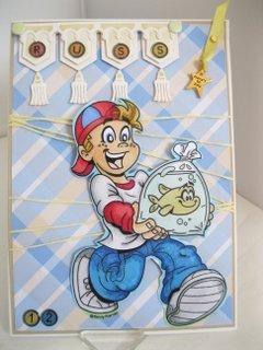 Fun card for a boy