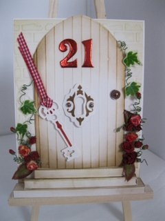 Floral door card