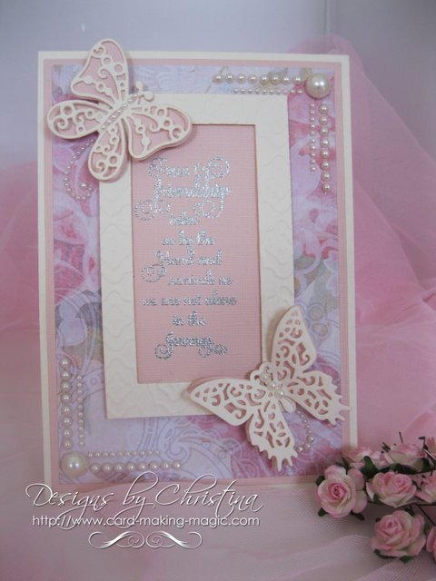 Card Making Magic Ideas Part - 36: Here Is A Card Created Using Nothing Other Than Spellbinders Matting Basics  And Two Butterflies From The Les Papillion Set.